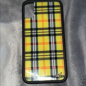 wildflower yellow plaid case for iphone x